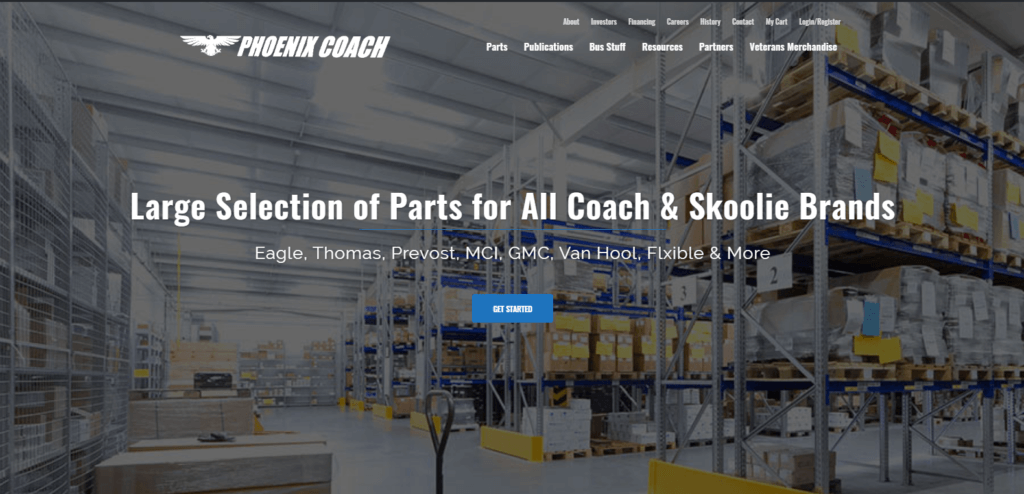 Phoenix Coach Parts Store Launches